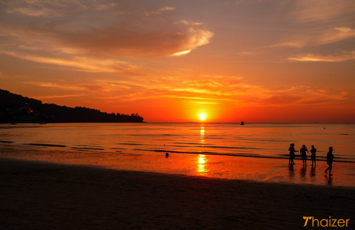 sunset on Kamala Beach, Phuket
