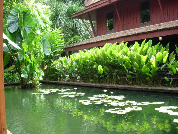 an oasis of green and calm at Jim Thompson's House in Bangkok
