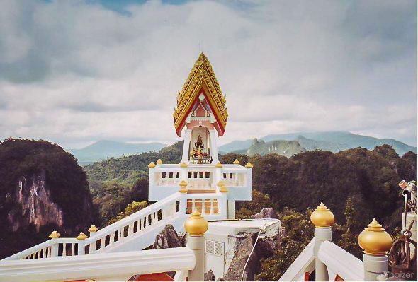Cliff-top shrine at Wat Tham Seua, Krabi
