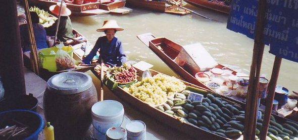 Bangkok Floating Market at Damnoen Saduak