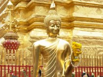 Buddha image at Wat Phra That Doi Suthep, Chiang Mai