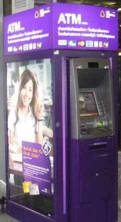 Siam Commercial Bank ATM cash machine in Thailand