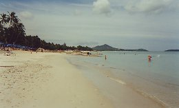 Looking north on Chaweng Beach, Ko Samui