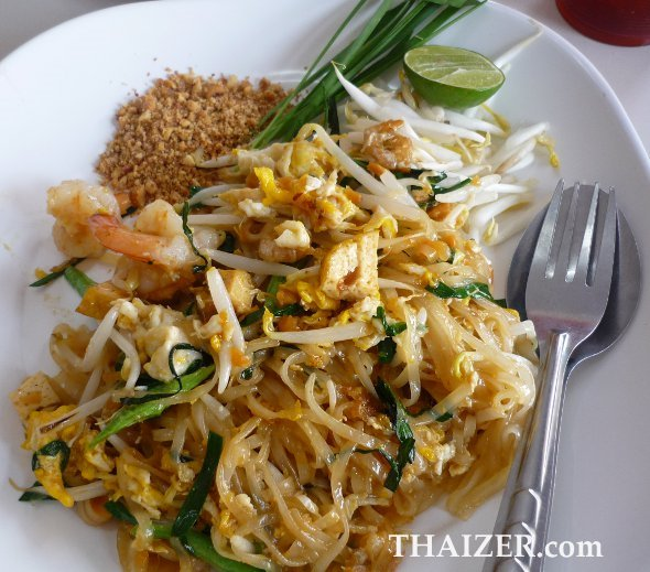 Phat Thai with shrimps