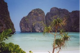 Maya Bay, Thailand, location of 'The Beach'