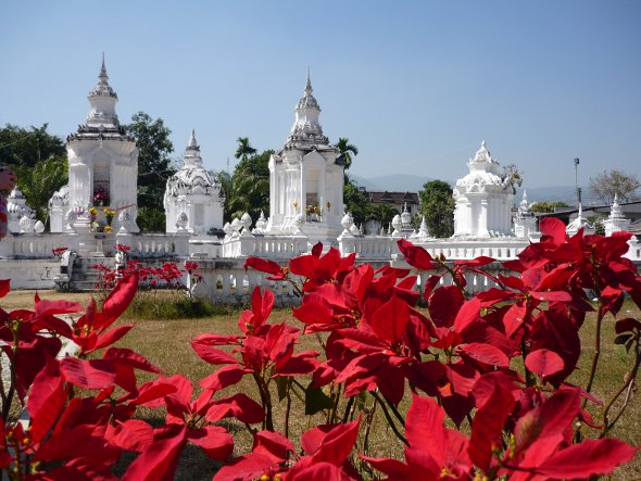 Stupas containing ashes of Chiang Mai princes at Wat Suan Dok