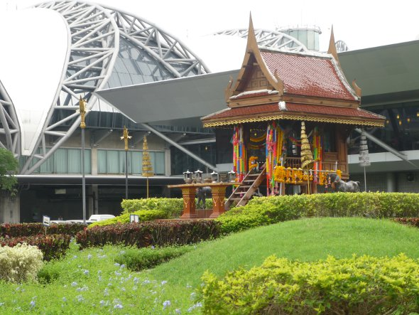 Thai Spirit House at Bangkok Airport