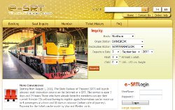 State Railway of Thailand (SRT) E-tickets