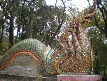 Naga staircase at Wat Phrathat Doi Suthep, Chiang Mai