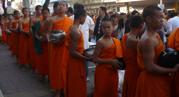 monks in Chiang Mai, Thailand