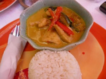 Panang curry served at Elliebum cafe in Chiang Mai