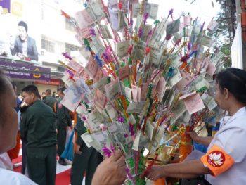 Thai money tree to make merit