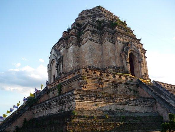 Ancient pagoda at Wat Chedi Luang in Chiang Mai