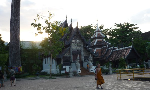 Courtyard and buildings at the rear of Wat Chedi Luang, Chiang Mai