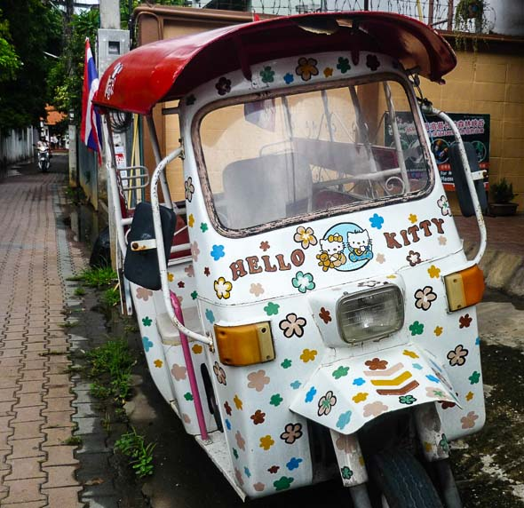 hello Kitty tuk-tuk in Chiang Mai