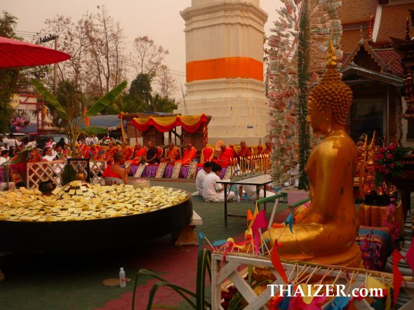 Monks preside over ceremonies for Makha Bucha Day