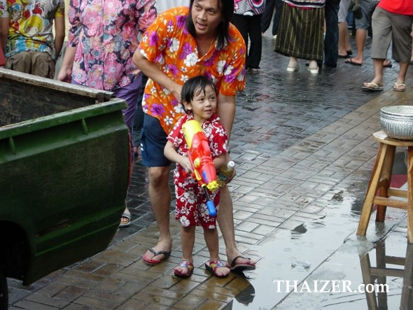 All ages enjoy Songkran in Thailand