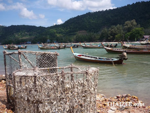 fishing boats and baskets in Ko Lanta