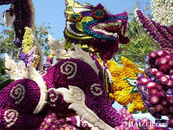 Float at Chiang Mai Flower Festival