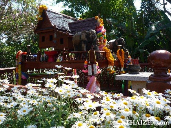 Spirit house at Bhuping Palace, Chiang Mai