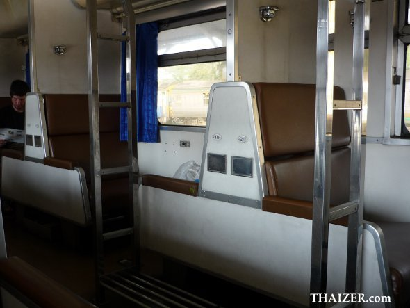 seats in second-class sleeper compartment between Chiang Mai and Bangkok