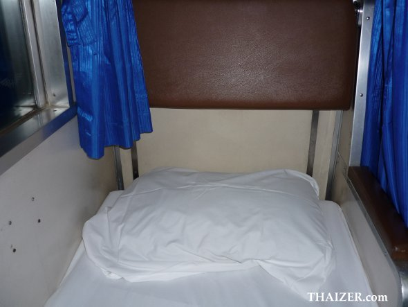 lower berth bunk in second class sleeper carriage