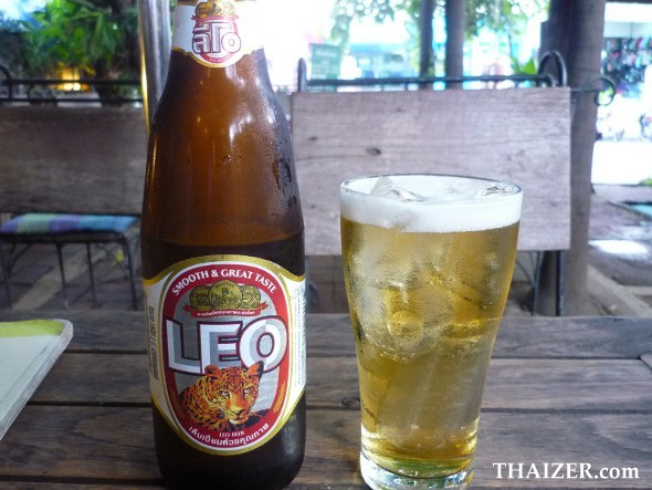 Leo Thai beer with ice