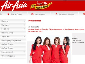 Air Asia announce move to Bangkok Don Mueang airport