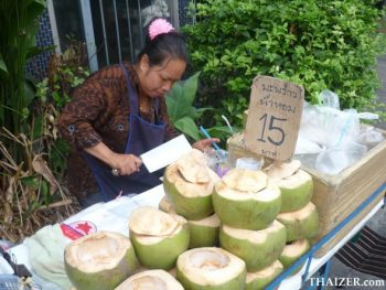coconuts for sale in Bangkok