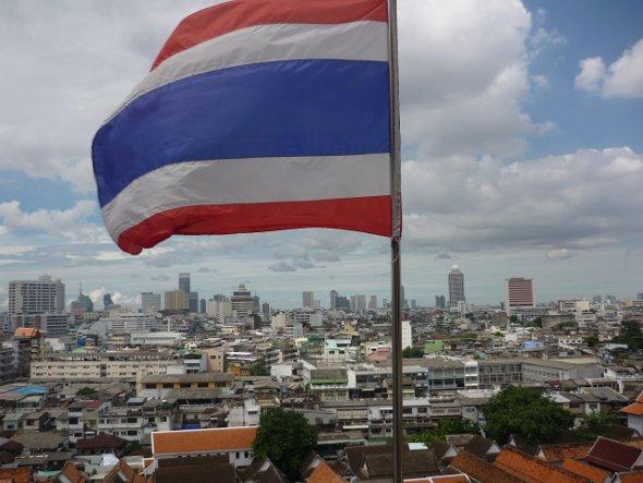 Golden Mount looking east towards downtown Bangkok
