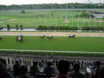 horse racing at Royal Turf Club in Bangkok