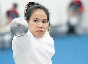 Paralympic gold medal winner, Saysunee Jana of Thailand