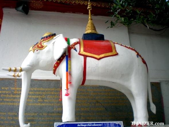 white elephant at Doi Suthep, Chiang Mai