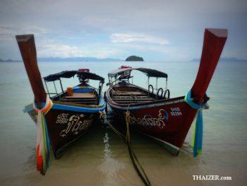 Two longtail boats at Ko Lipe