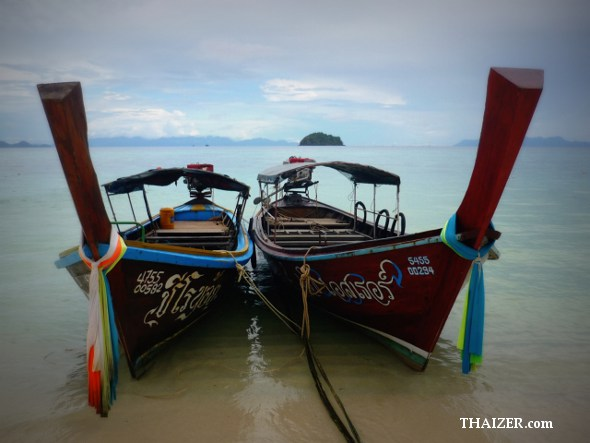Two longtail boats at Ko Lipe