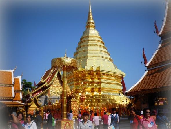 Gleaming gold at Wat Phra That Doi Suthep, Chiang Mai
