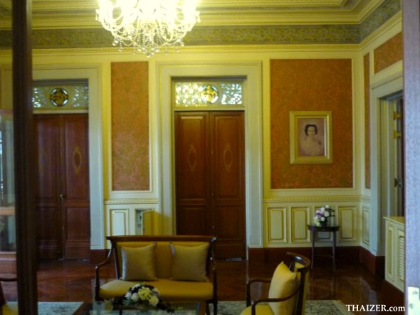 Reception room at the palace