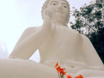 seated white Buddha in Chiang Rai