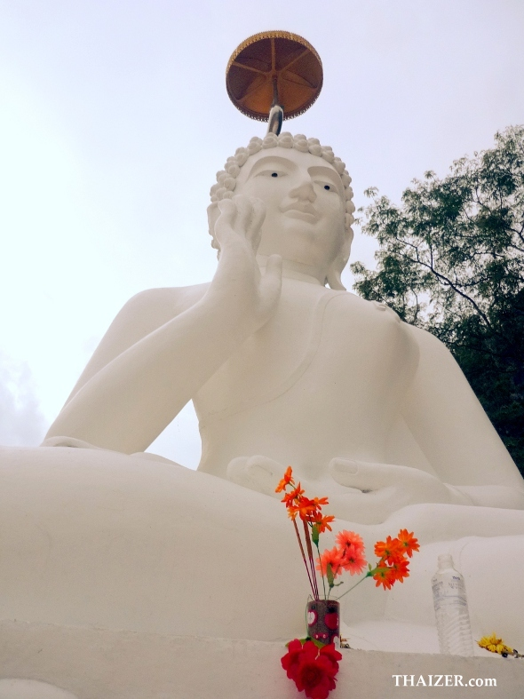 seated white Buddha in Chiang Rai