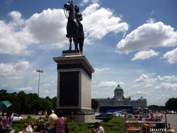 The Equestrian Statue of King Rama V at the Royal Plaza in Dusit area of Bangkok