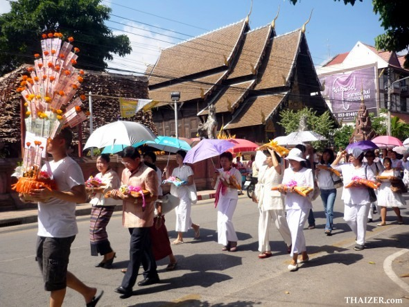 Thod Kathin Procession in Chiang Mai, Thailand
