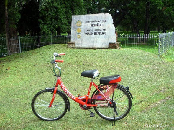 bicycle around Sukhothai Historical Park