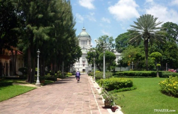 ornamental gardens to the rear of the Throne Hall