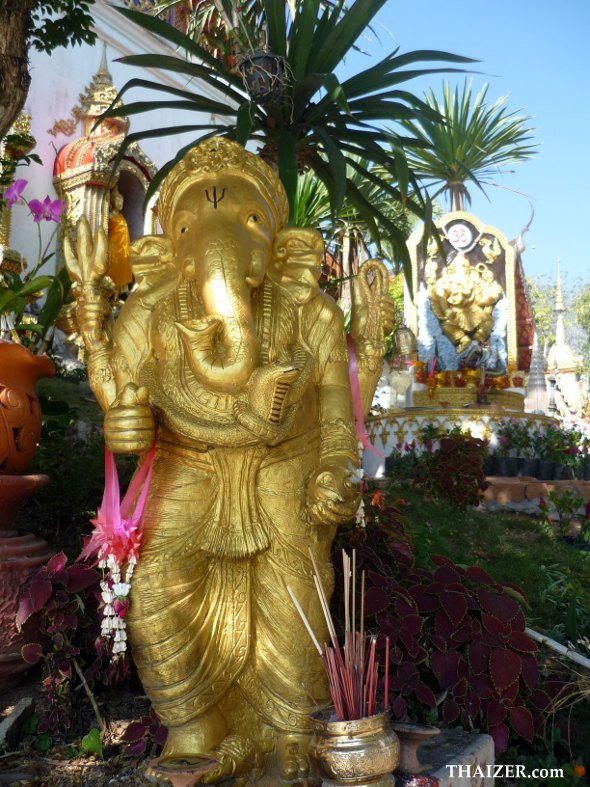 statue of Ganesh at Doi Suthep temple in Chiang Mai