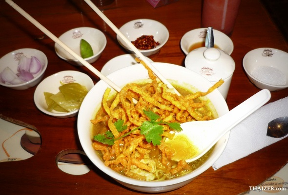 Delicious khao soi - northern Thai-style noodles