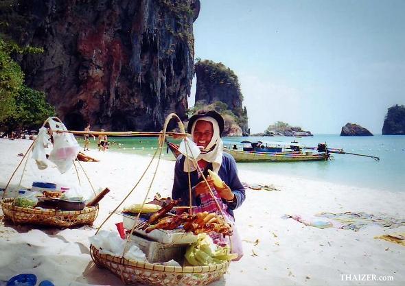 Food vendor on Phra Nang Beach, Krabi