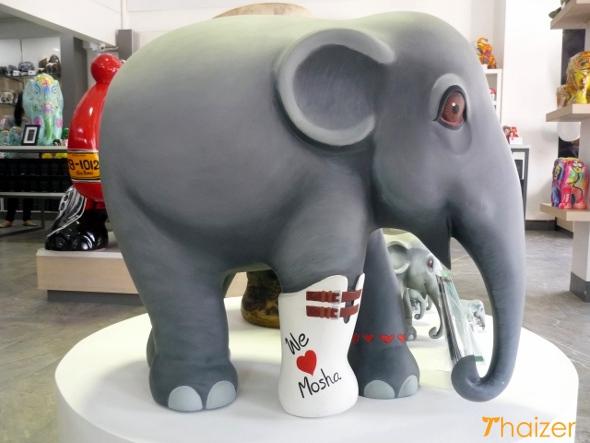 Statue of Mosha - the elephant who inspired the Elephant Parade