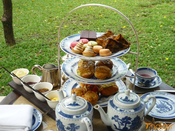 Afternoon tea at The Chedi hotel, Chiang Mai