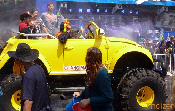 Songkran big car