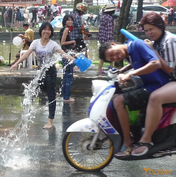 Songkran motorbike